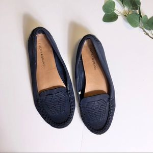 Lucky Brand Blue Moccasin Flats
